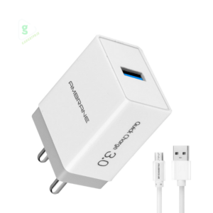 Ambrane AQC-56 Fast Charge 18 W 3.0A (White & Grey) - Features